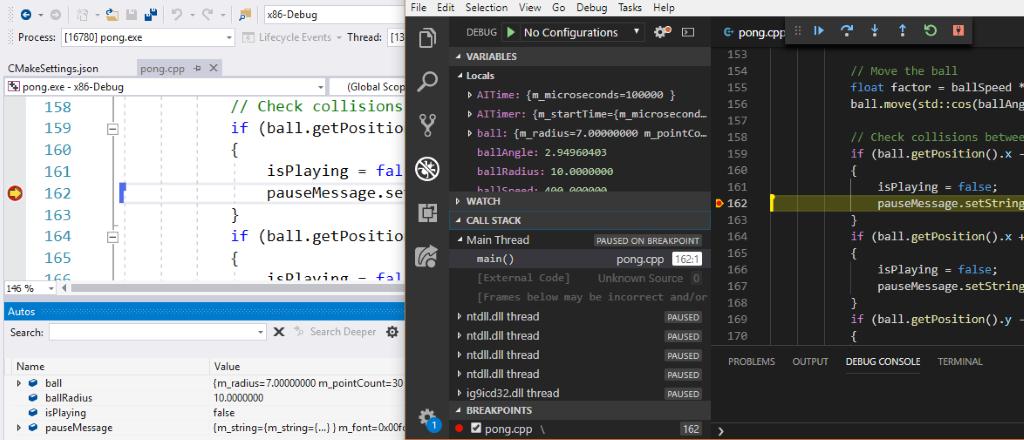 ▲左侧是 Visual Studio 2019,右侧是 Visual Studio Code