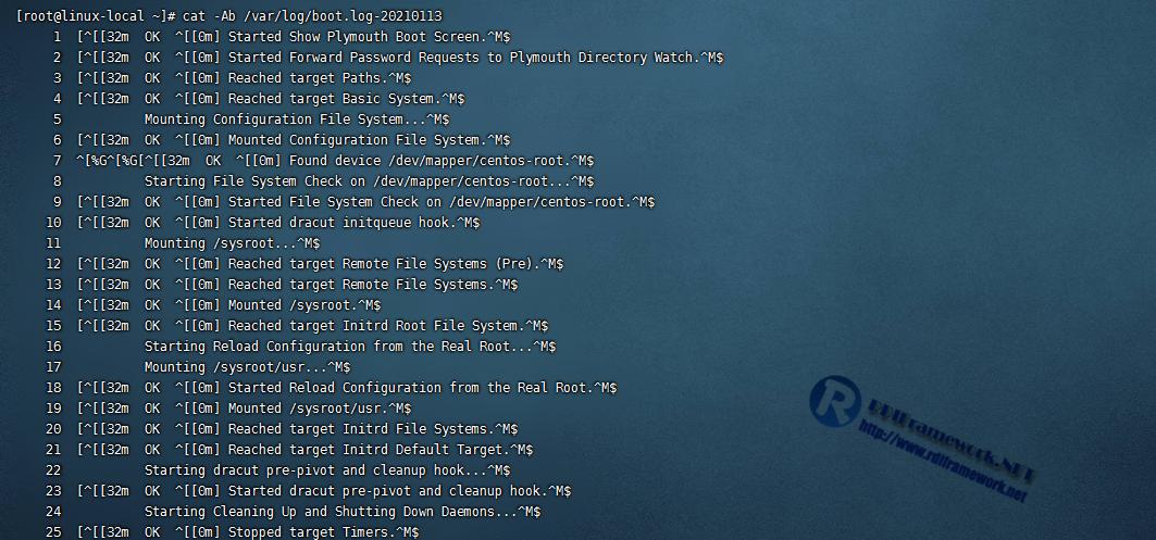 查看Linux启动日志文件