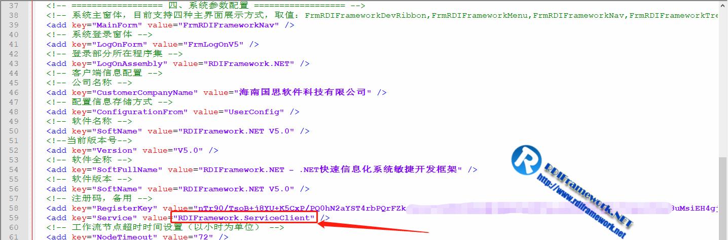SOA模式运行Config文件配置